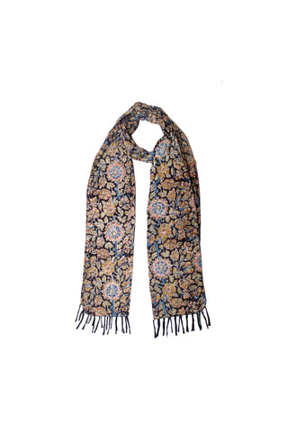 Scarf - Kalamkari - Black Flowers (SON0111)