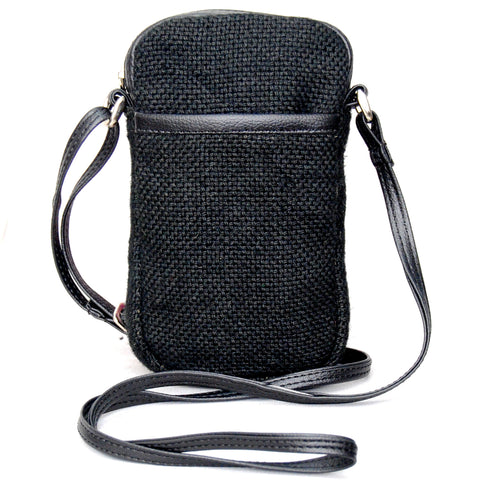 Cell Phone Bag Jute - Black (KK1156)