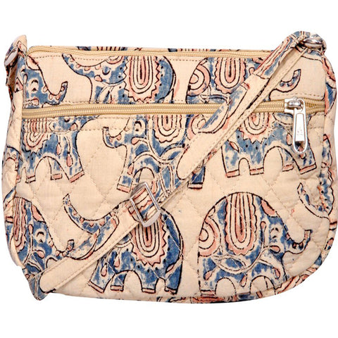 KK2183 - Fairy Cotton Bag - Blue Elephants