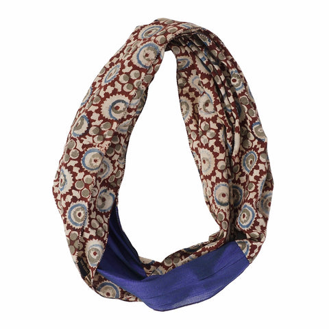 Scarf - Infinity Style - Kalamkari with Silk - 105 Brown (SIN0004)