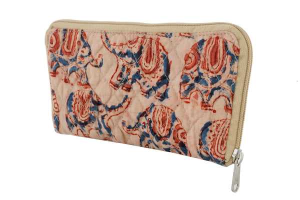 Wallet- Kalamkari - Elephants (KK2056)
