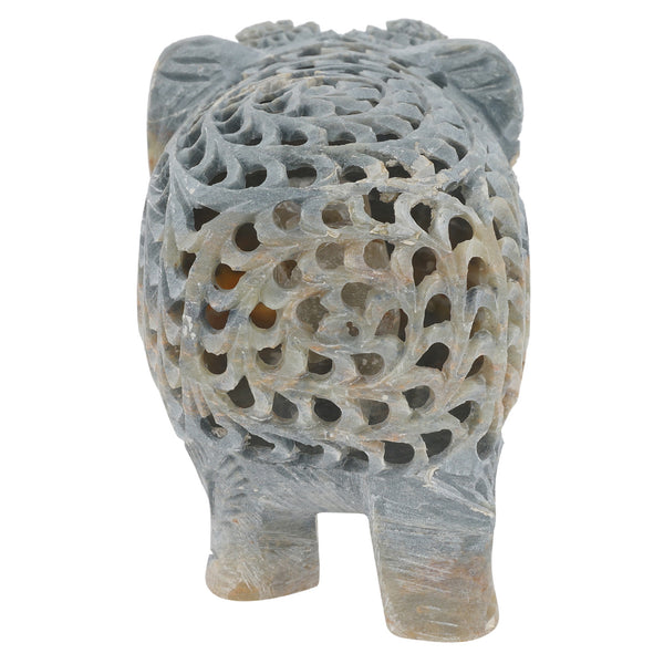 Soapstone Elephant - Fine 3 Cut - Multiple Sizes (SA1010)