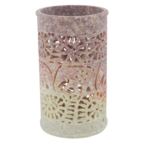 "Vase - Stone - 3"" dia X 6"" height (SA1007)"