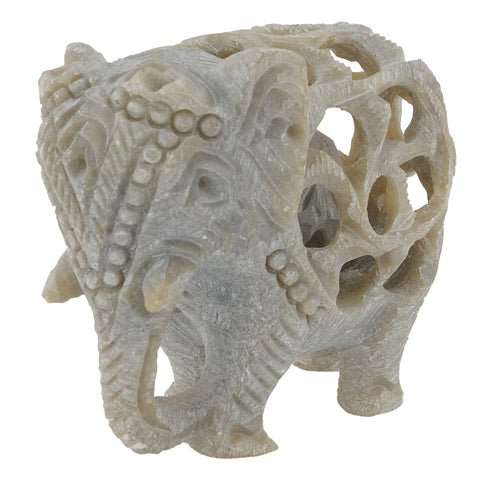 Soapstone Elephant - Undercut - Multiple sizes (SA1011)