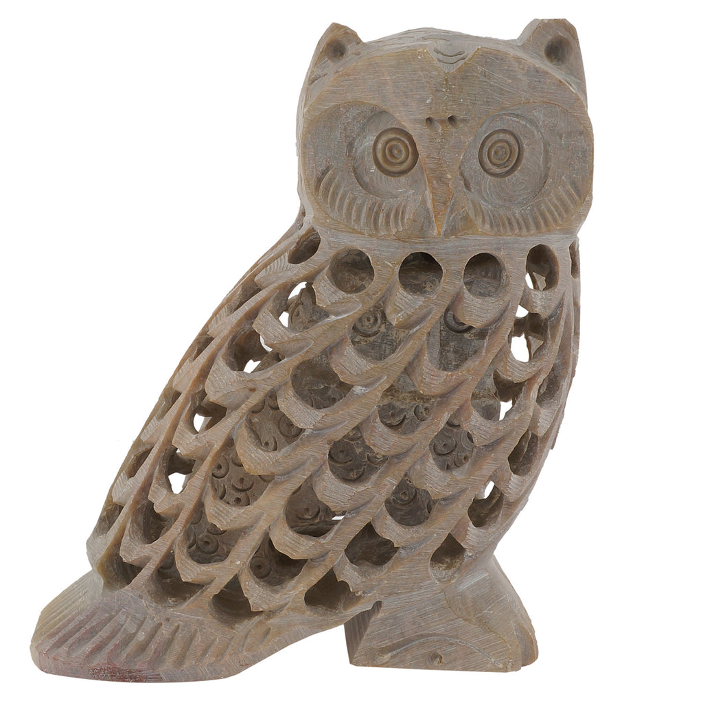 Soapstone Owl - Multiple Sizes (SA1009)