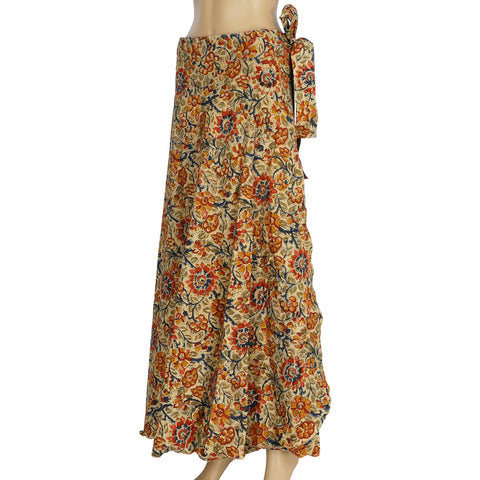 Wrap Skirt-Flowers Beige (KK1003)