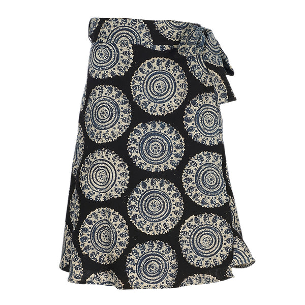 Wrap Skirt - Medium Length - Big Circles (KK1044)