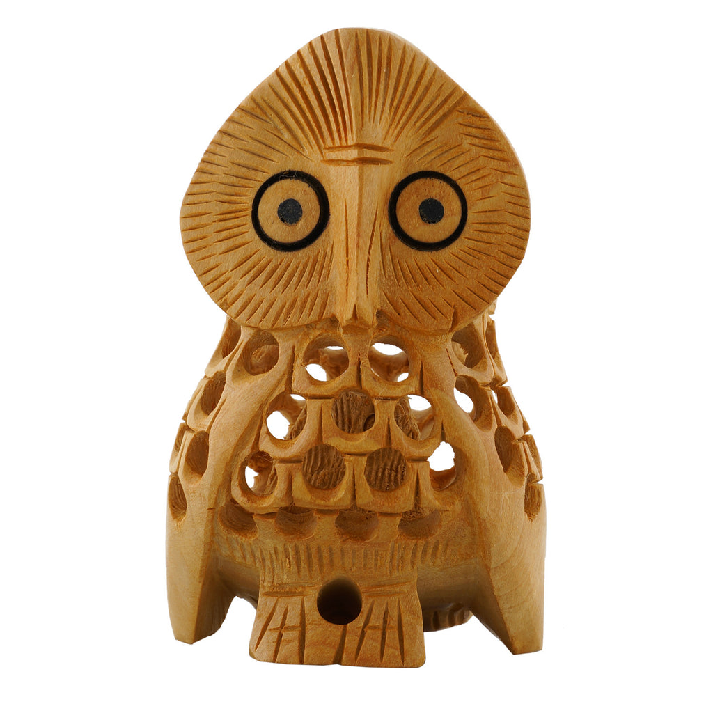 Wooden Owl - Undercut - Multiple Sizes - WA1013
