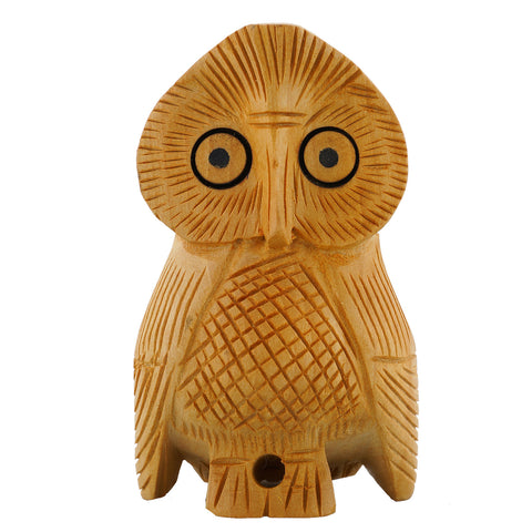 Wooden Owl - Solid - Multiple Sizes-WA1014