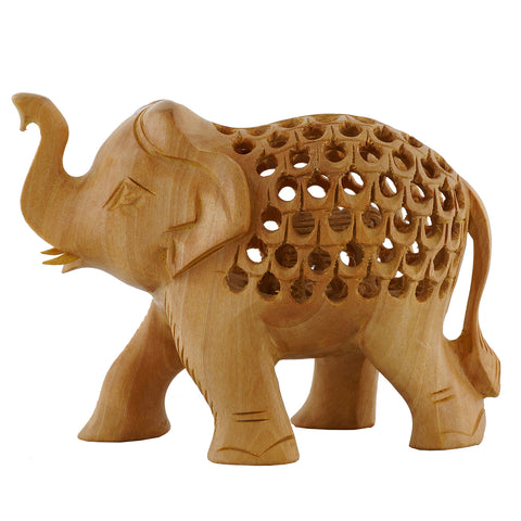 Wooden Elephant - Trunk Up - Undercut - WA1027