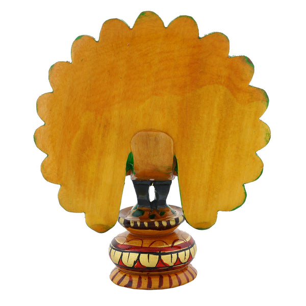 Wooden Peacock - Meenakari - Open tail - WA1030