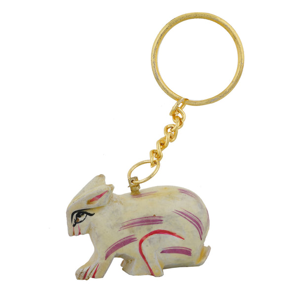 Wooden Rabbit - Key Chain - WA1021