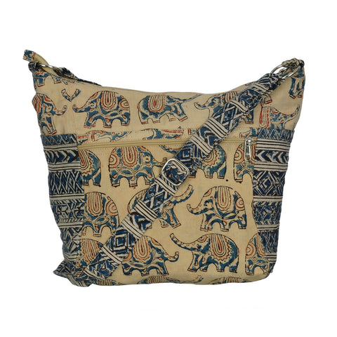 Indy Cotton Bag - Blue Elephant (KK2002)