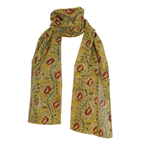 Scarf - Kalamkari - Yellow (SON0107)