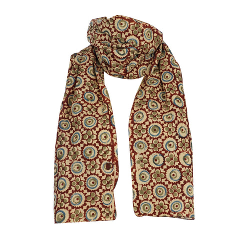 Scarf - Kalamkari - 105 Brown (SON0103)