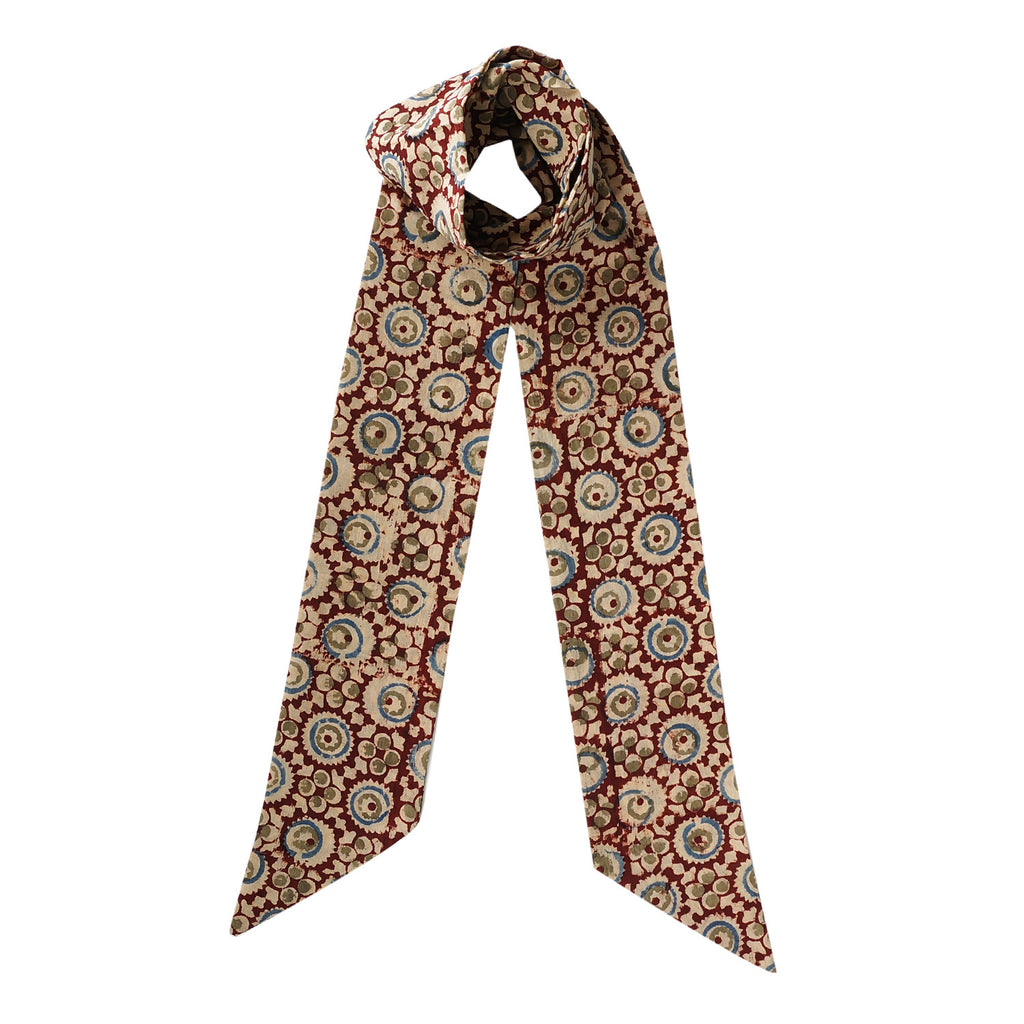 Skinny Scarf - Brown Circles (KK2034)