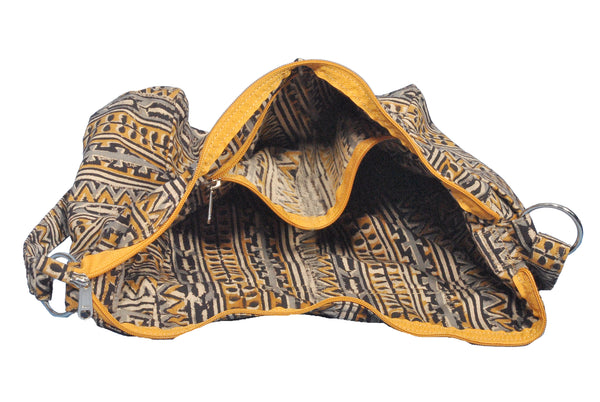 KK2007 - Indy Cotton Bag - Yellow Tribal