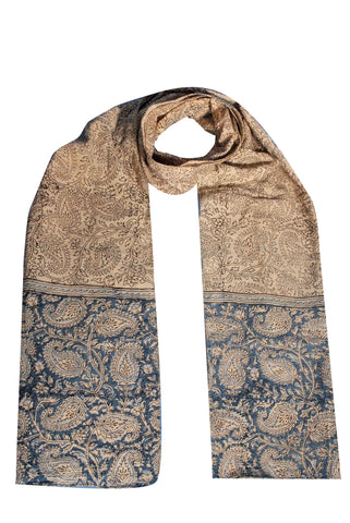 SOP0006 - Kalamkari Oblong Scarf with border print
