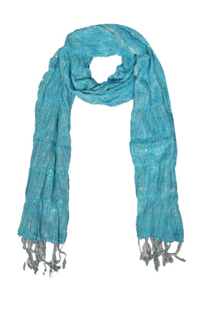 SF0017 - Viscose Scarf - Blue