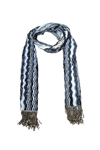 SF0001 - Scarf - Indigo Stripes