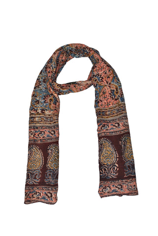 SOP0016- Kalamkari Oblong Scarf with border print