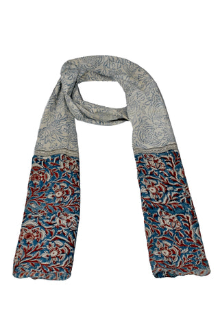 SOP0009 - Kalamkari Oblong Scarf with border print