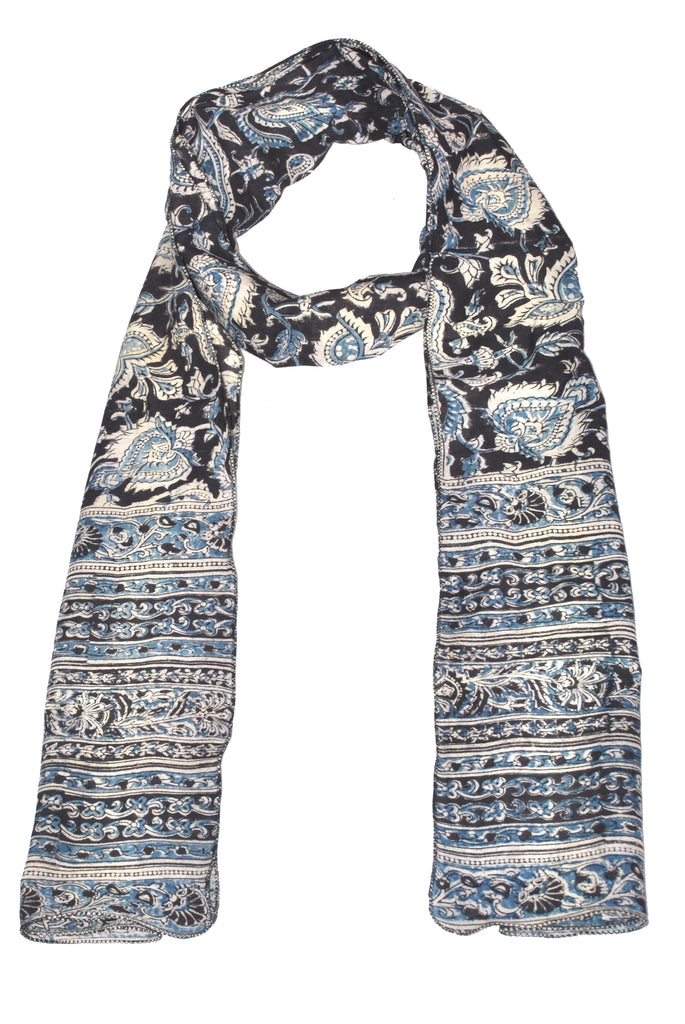 SOP0007 - Kalamkari Oblong Scarf with border print