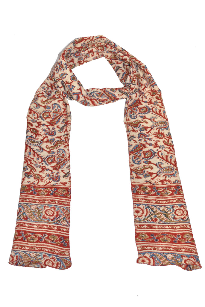SOP0002 - Kalamkari Oblong Scarf with border print