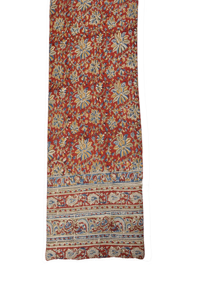 SOP0010 - Kalamkari Oblong Scarf with border print