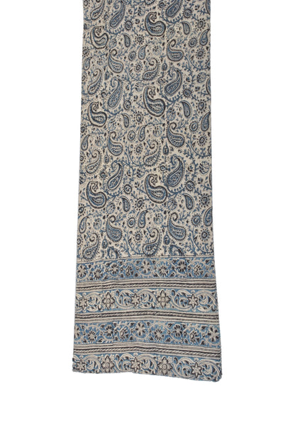 SOP0003 - Kalamkari Oblong Scarf with border print