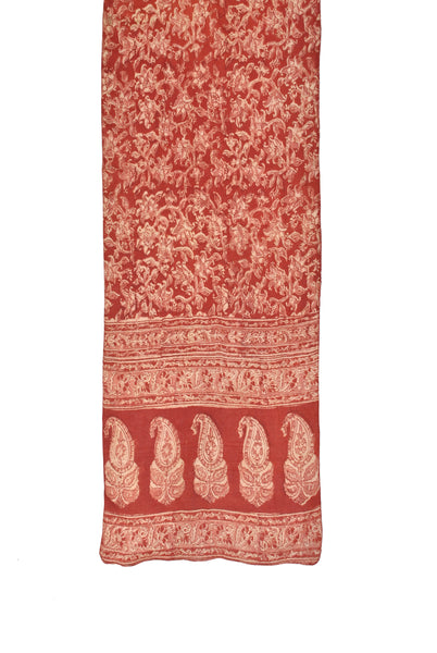 SOP0011 - Kalamkari Oblong Scarf with border print