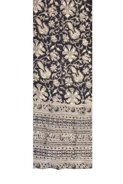 SOP0014- Kalamkari Oblong Scarf with border print