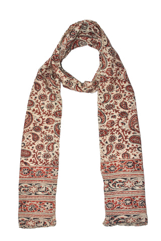 SOP0008 - Kalamkari Oblong Scarf with border print