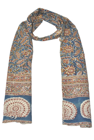 SOP0012 - Kalamkari Oblong Scarf with border print
