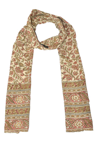SOP0004 - Kalamkari Oblong Scarf with border print