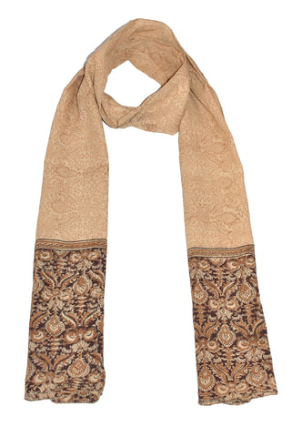 SOP0005 - Kalamkari Oblong Scarf with border print