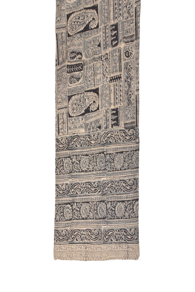 SOP0018- Kalamkari Oblong Scarf with border print