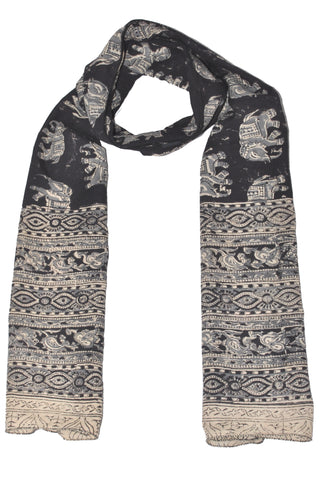 SOP0024 - Kalamkari Oblong Scarf with border print