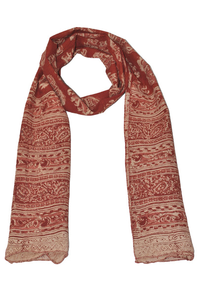 SOP0025 - Kalamkari Oblong Scarf with border print