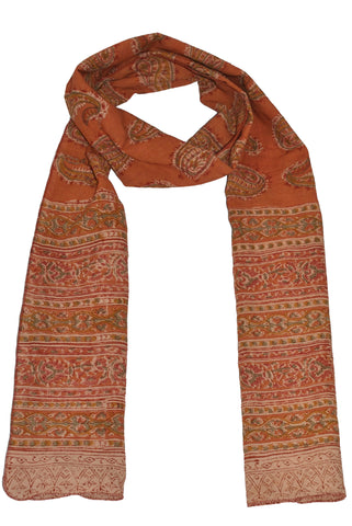 SOP0021 - Kalamkari Oblong Scarf with border print