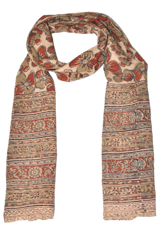 SOP0023 - Kalamkari Oblong Scarf with border print