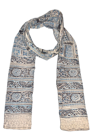 SOP0022 - Kalamkari Oblong Scarf with border print