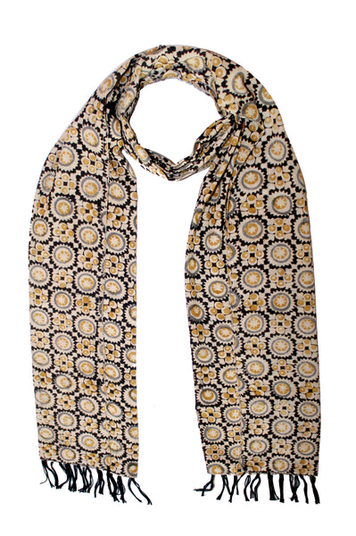 Scarf - Kalamkari - 105 Natural (SON0110)