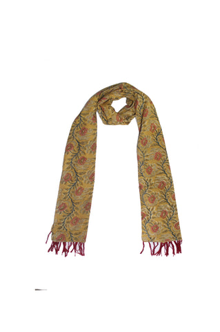 Scarf - Kalamkari - Flowers Yellow (SON0113)