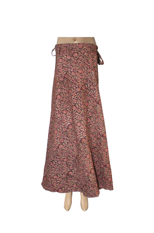 Wrap Skirt - Flowers Brown(KK1011)