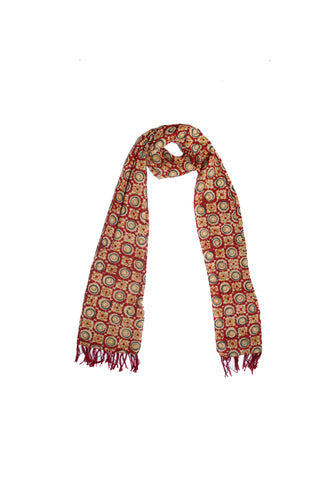 Scarf - Kalamkari - Circles Red (SON0116)