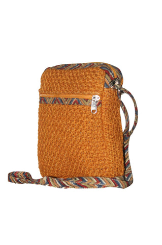 Cutie - Jute Cross Body Bag - Honey (JK1203)