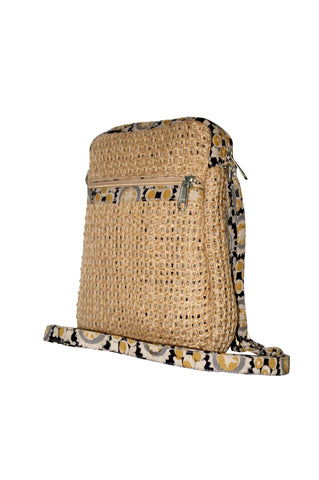 Cutie - Jute Cross Body Bag - Natural/Beige (JK1200)