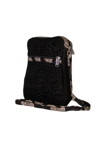 Cutie - Jute Cross Body Bag - Black (JK1201)