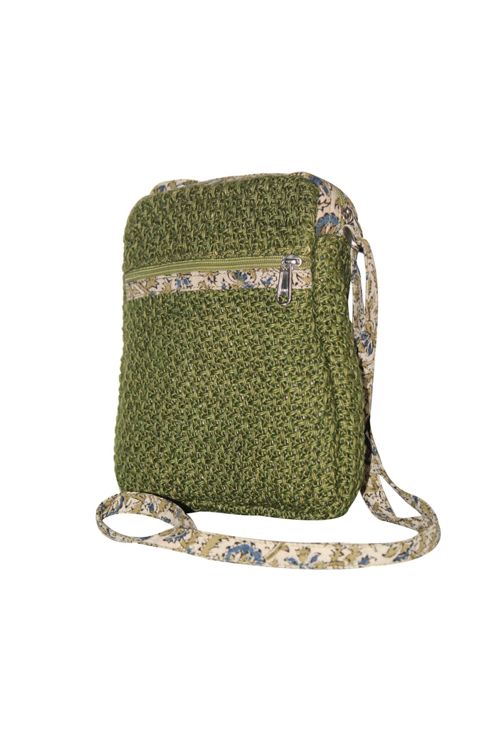 Cutie - Jute Cross Body Bag - Olive Green (JK1205)